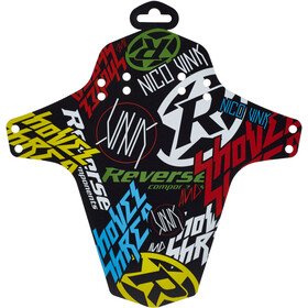Reverse Nico Vink-Stickerbomb Spatbord, black/colourful